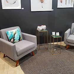 Jute-Cotton Flatweave styled by The Property Stylists Canberra