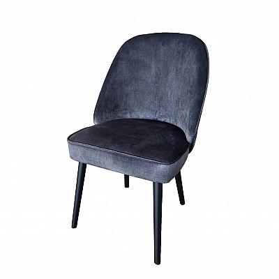 "Dining Chair ""Olivia"" Dark Grey Velvet"