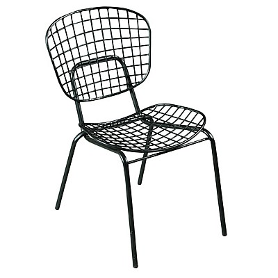 Black Metal Cage Dining Chair
