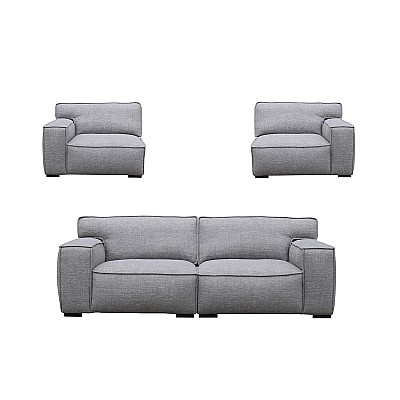 "3 Seater Sofa ""Linus"" in Grey"