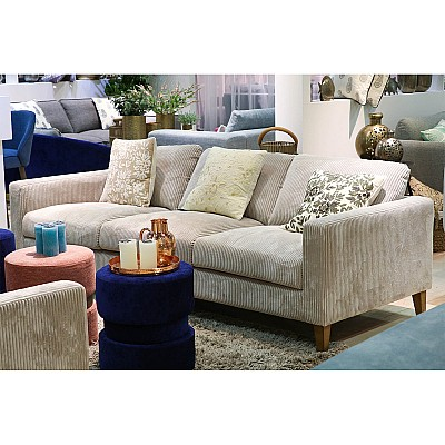 "3 Seater Sofa ""Theodor"" in Cream Corduroy"