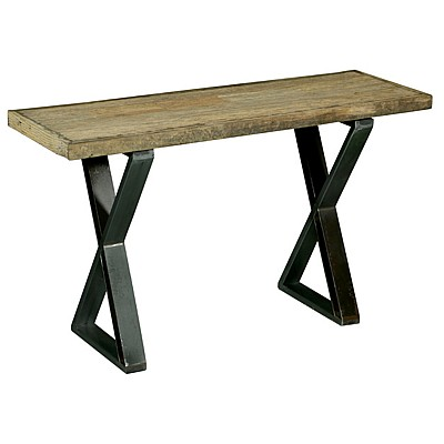 """Timber And Metal Console Table """"Dev"""" Natural/Black"""