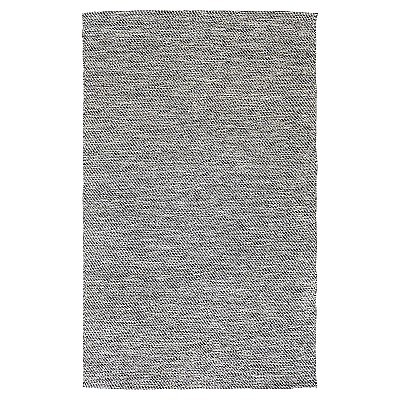 "Cotton Flatweave Rug ""Lima"" Black"