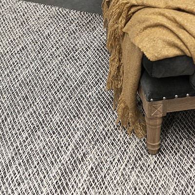 "Cotton Flatweave Rug ""Lima"" Brown"