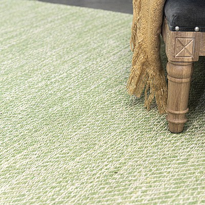 "Cotton Flatweave Rug ""Lima"" Green"