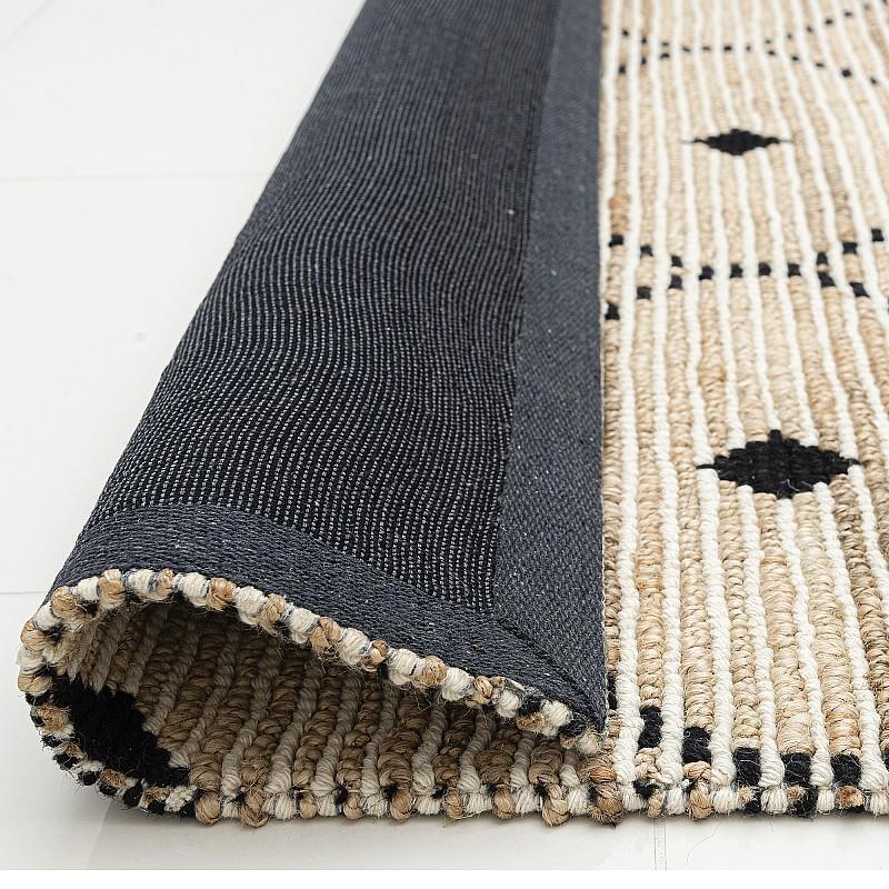 "Hand Made Flat Woven Jute Wool Rug ""Bogota"""