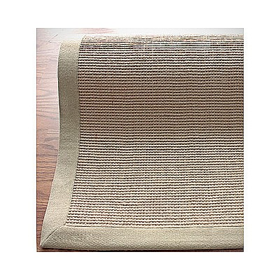 Jute Rug With Beige Cotton Border