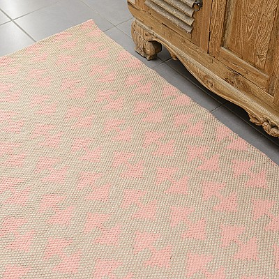 "Jute Flatweave Rug ""Arrow"" in Pink"