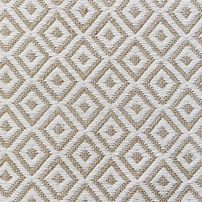 "Jute Flatweave Rug ""Diamond"" in White"