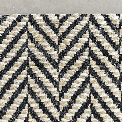 "Jute Flatweave ""Herringbone"" in Black"