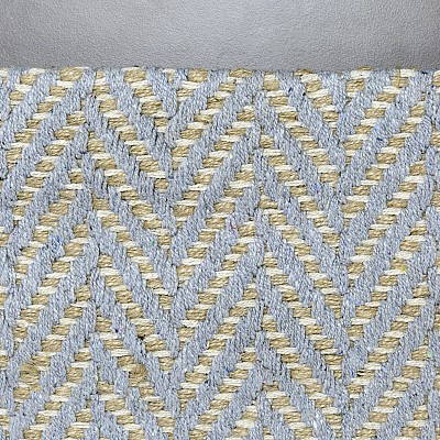 "Jute Flatweave ""Herringbone"" in Grey"