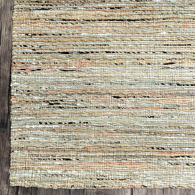 """Recycled Silk Jute Flatweave Rug """"Jaipur"""" in Silver"""