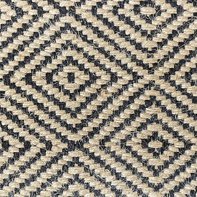 "Jute Flatweave ""Rustic Diamond"" in Black"