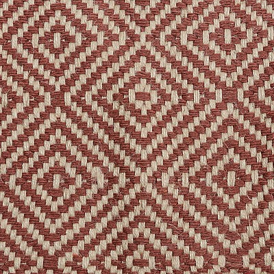 "Jute Flatweave ""Rustic Diamond"" in Red"