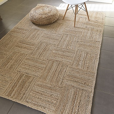 Jute Braided Patchwork Rug