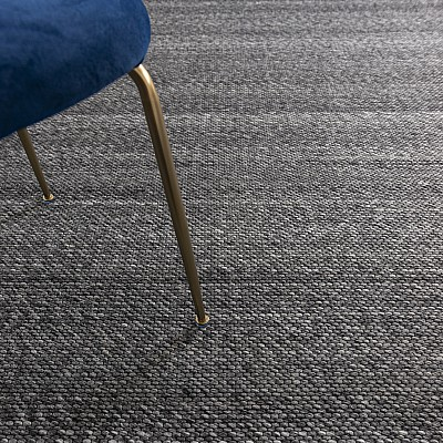 "Hand Woven Jacquard Rug ""Signature"" in Grey"