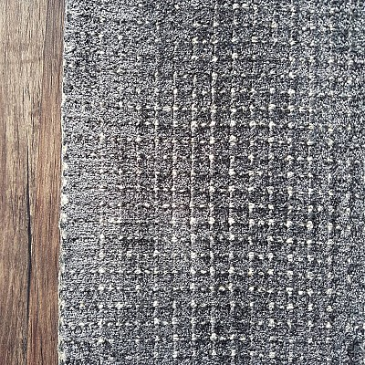 Hand Loom Viscose Rug in Charcoal