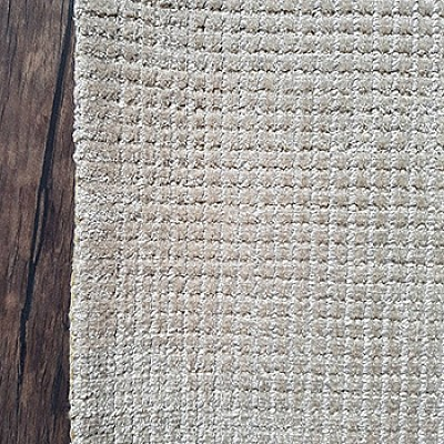Hand Loom Viscose Rug in Silver White