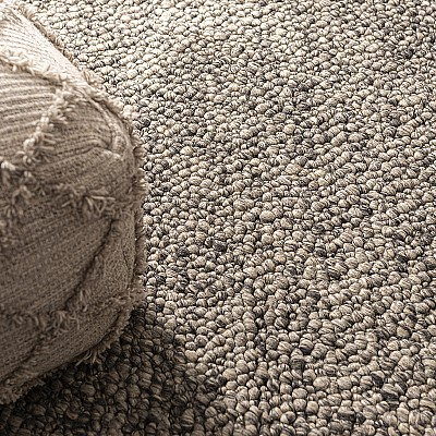 "Hand Woven Wool Rug ""Fish Eye Island"""
