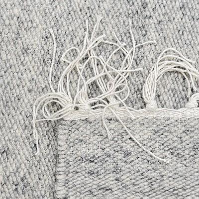 """Wool Flatweave """"Himalaya"""" in Light Grey"""