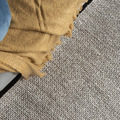 "Hand Made Wool-Blend Rug ""Lynx"" in Beige"