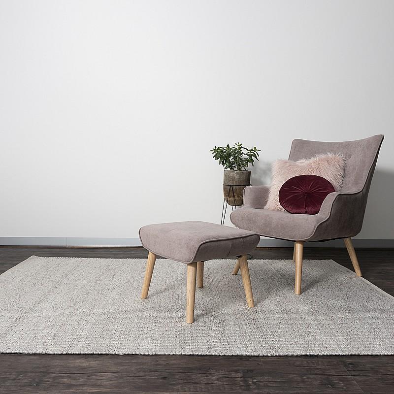 Hand Made Wool Flatweave Malmö in Beige