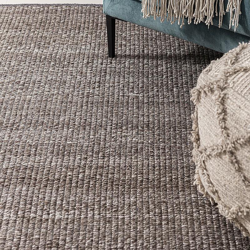 Hand Made Wool Flatweave Malmö in Trunk Grey