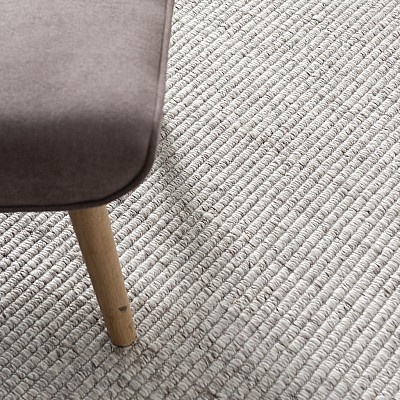 "Hand Made Wool Flatweave ""Malmö"" in Beige"