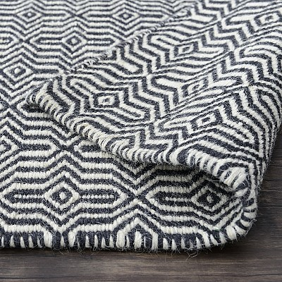 "Wool Kilim Rug ""Marrakesh Eye"" in Dove Drey"