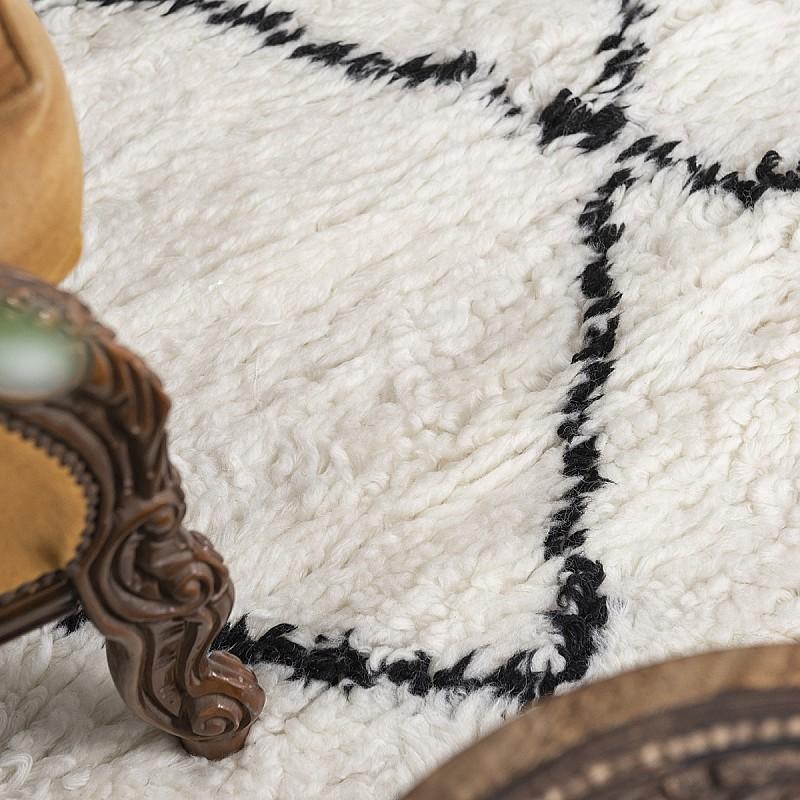 Hand Knotted New Zealand Wool Shaggy Berber Rug Marrakesh