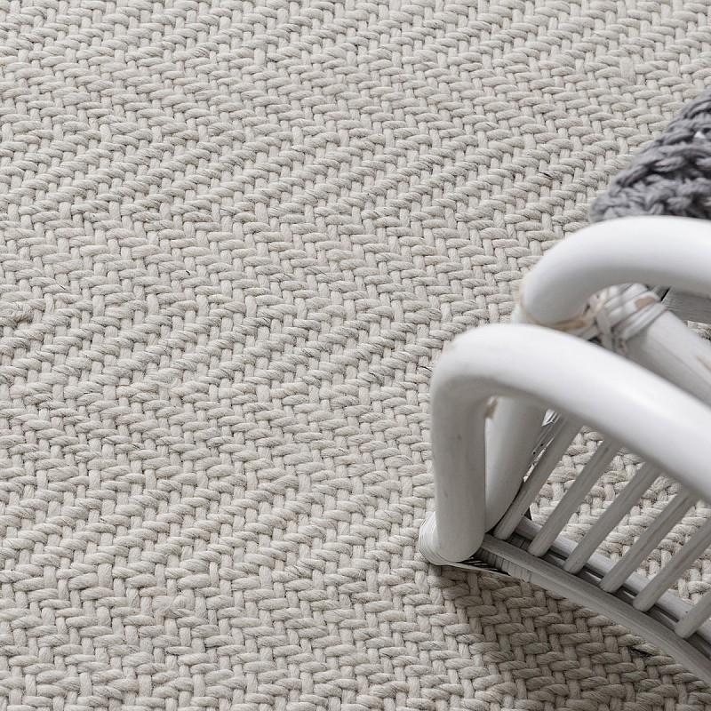 Handwoven Flatweave Wool Rug Munich in Off White