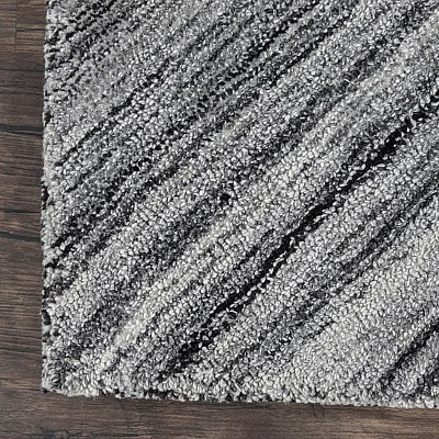 "Wool Tufted Rug ""Nuevo"" Grey/White"