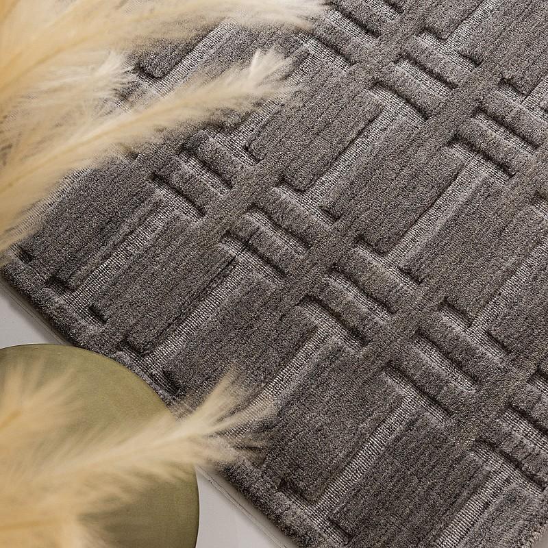 "Hand Knotted Wool Rug ""Radisson"" Grey - RADISSGRY"