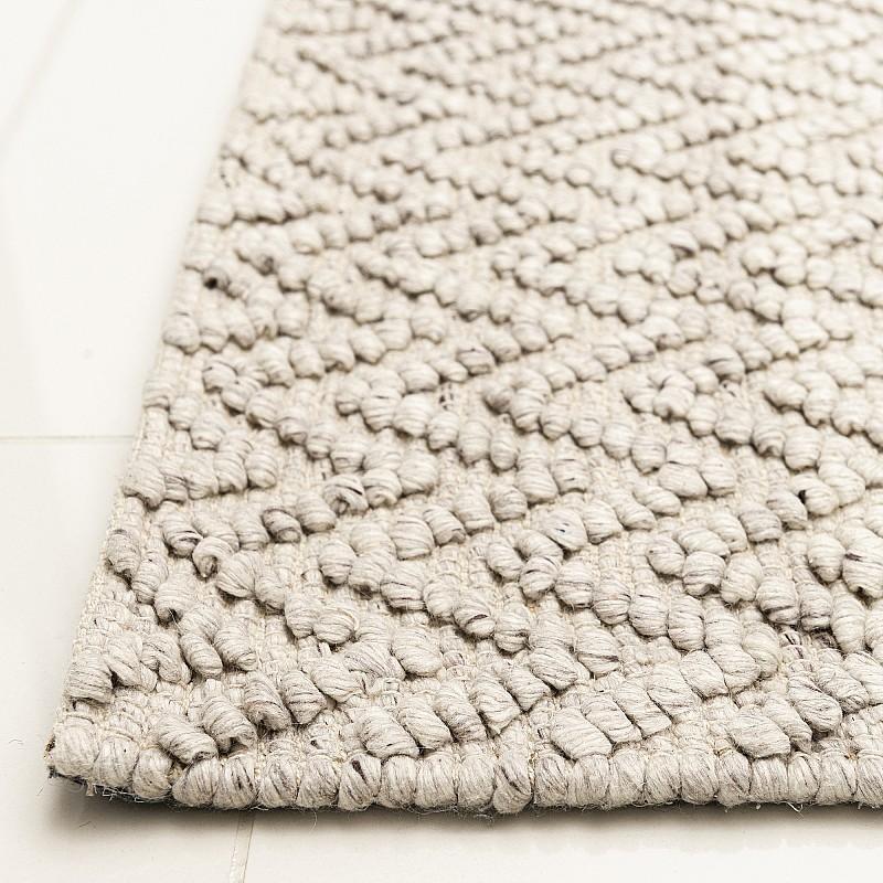 "Hand Made Wool Flatweave Rug ""Sorrento FX"" in Beige"