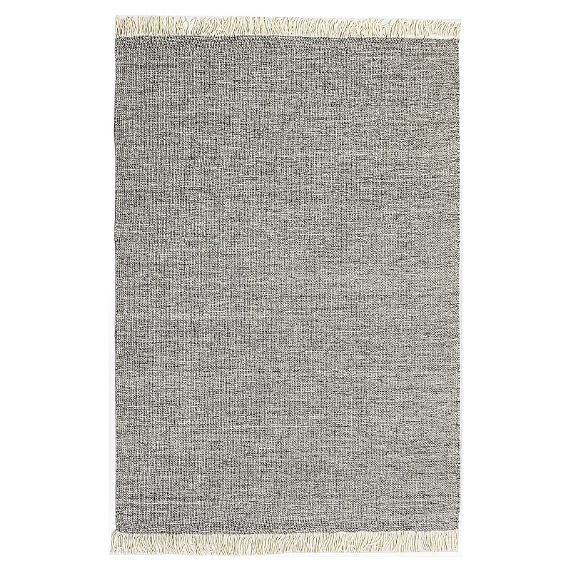 """Hand Made Wool Flatweave """"Stardust"""" in Natural Grey"""