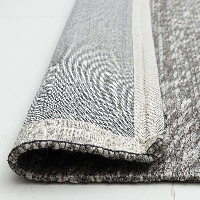 """Hand Woven Wool Rug """"Valencia Grey"""""""