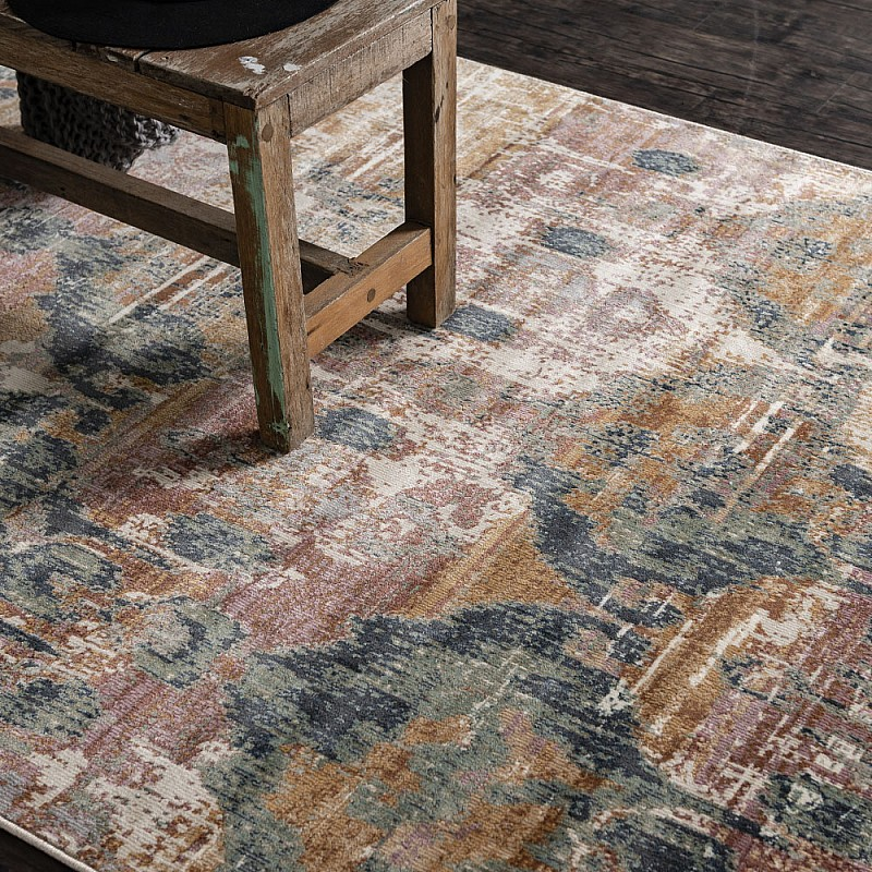 Power-loomed soft polypropylene distress/vintage look rug Cavalli 2063X