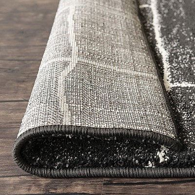 Modern Machine Made Thick And Soft Rug