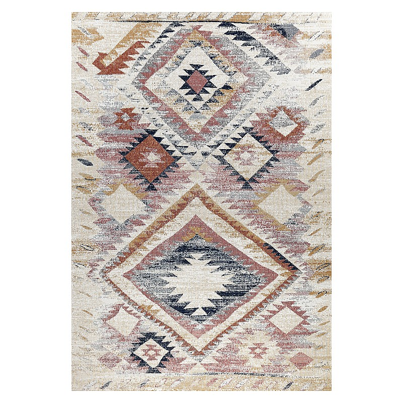 """Power-loomed rug """"Malaga 202P"""" in Pink"""
