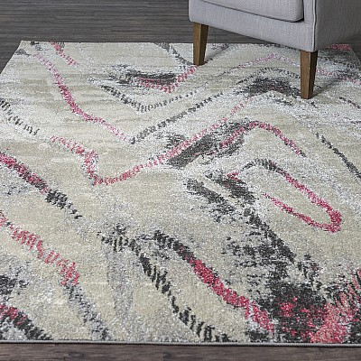 "Machine Made Soft Polyester Rug ""Ultra 2163Z"""