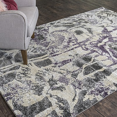 "Machine Made Soft Polyester Rug ""Ultra 601Q"""