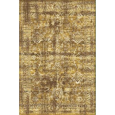 Machine made rug Frieze 3814A Brown