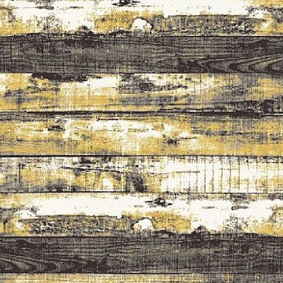 Machine made rug Frieze 3838A Anthracite/Yellow